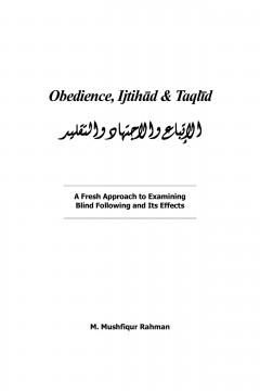 Obedience, Ijtihad and Taqlid